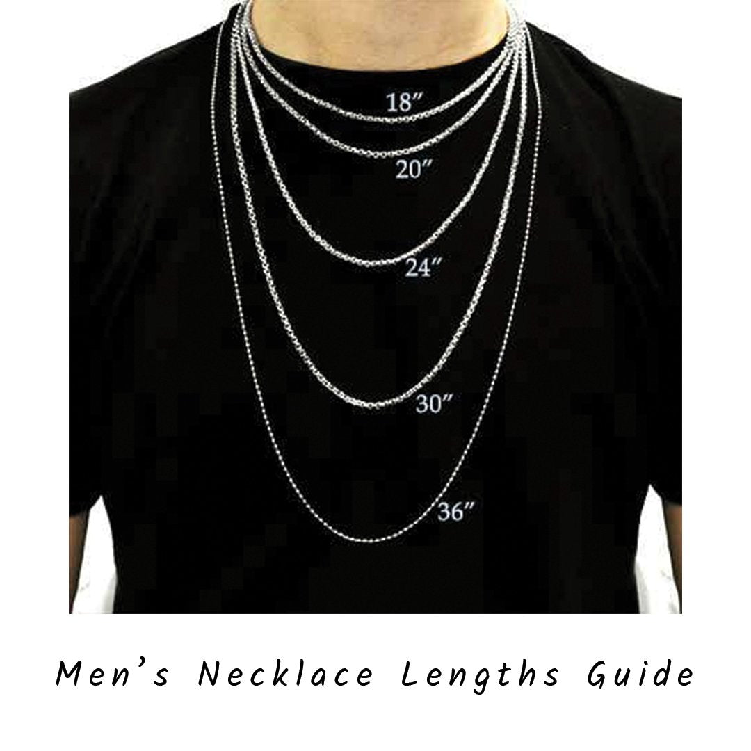 mens necklace guide