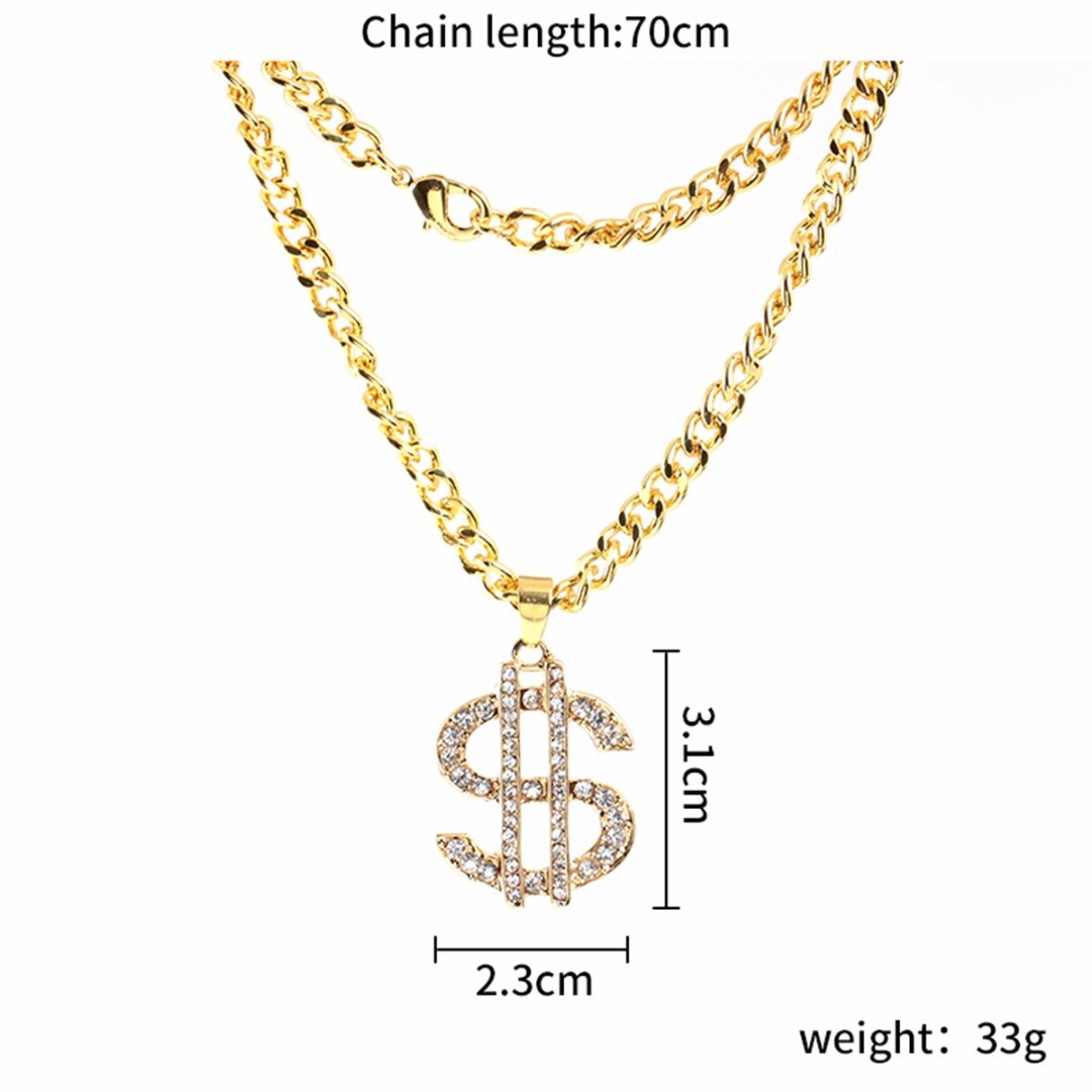 diamond necklace measurements iced out