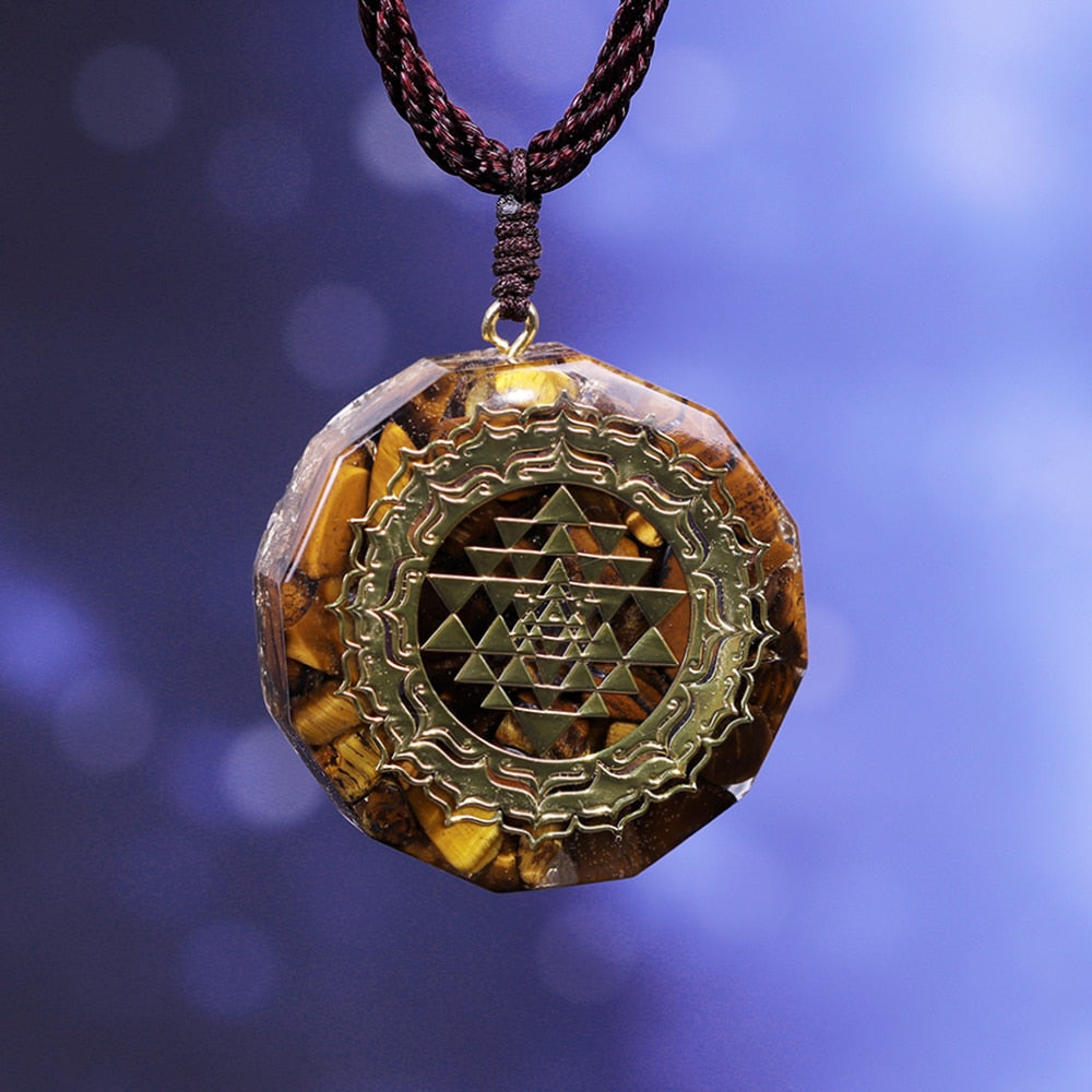 Chi Prana Orgonite Pendant with Sacred Energy Geometry