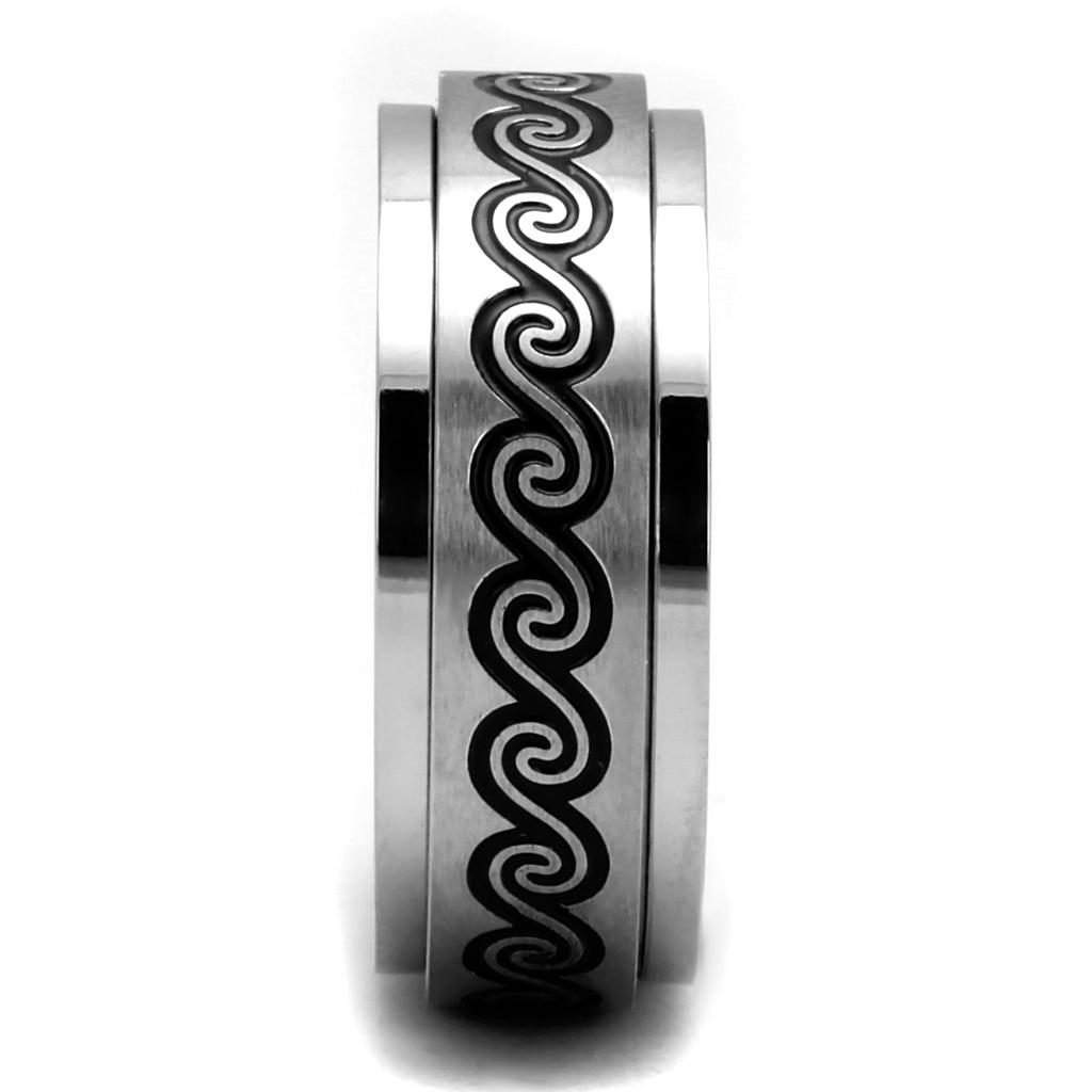 Tribal Ocean Stainless Steel Men's Ring