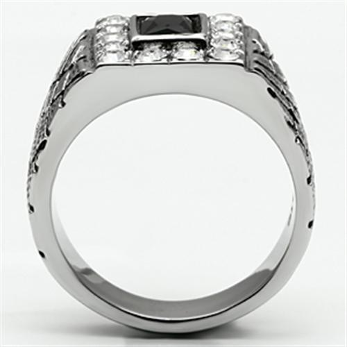 Men Stainless Steel Black Onyx Fashion Ring