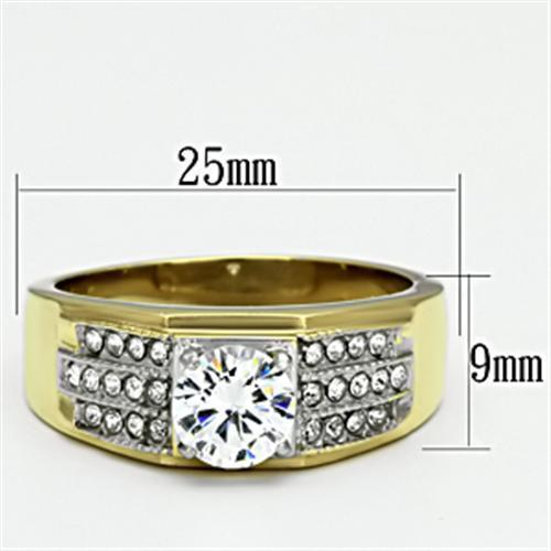 Cubic Zirconia Gold Ring with a Classic Design