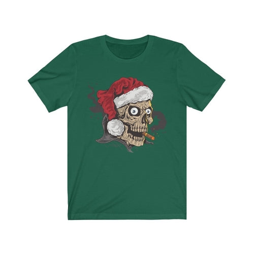 Merry Christmas Smoking Weed Santa Skull Head