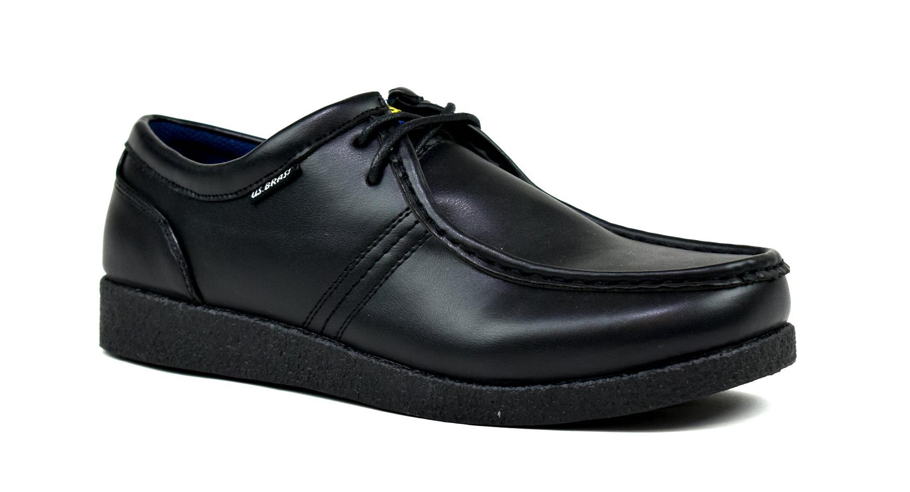 black shoes for men front view