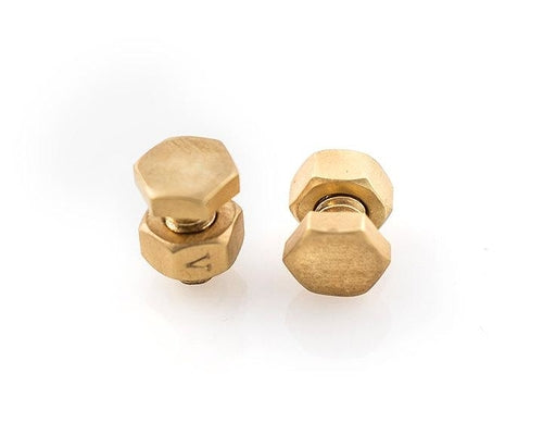 gold nuts earring for men