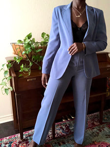 cerulean two-piece pant suit