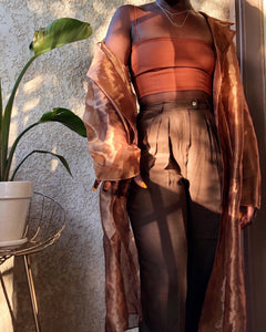 vintage sheer copper duster