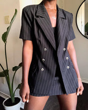 Load image into Gallery viewer, black pinstripe three-piece set