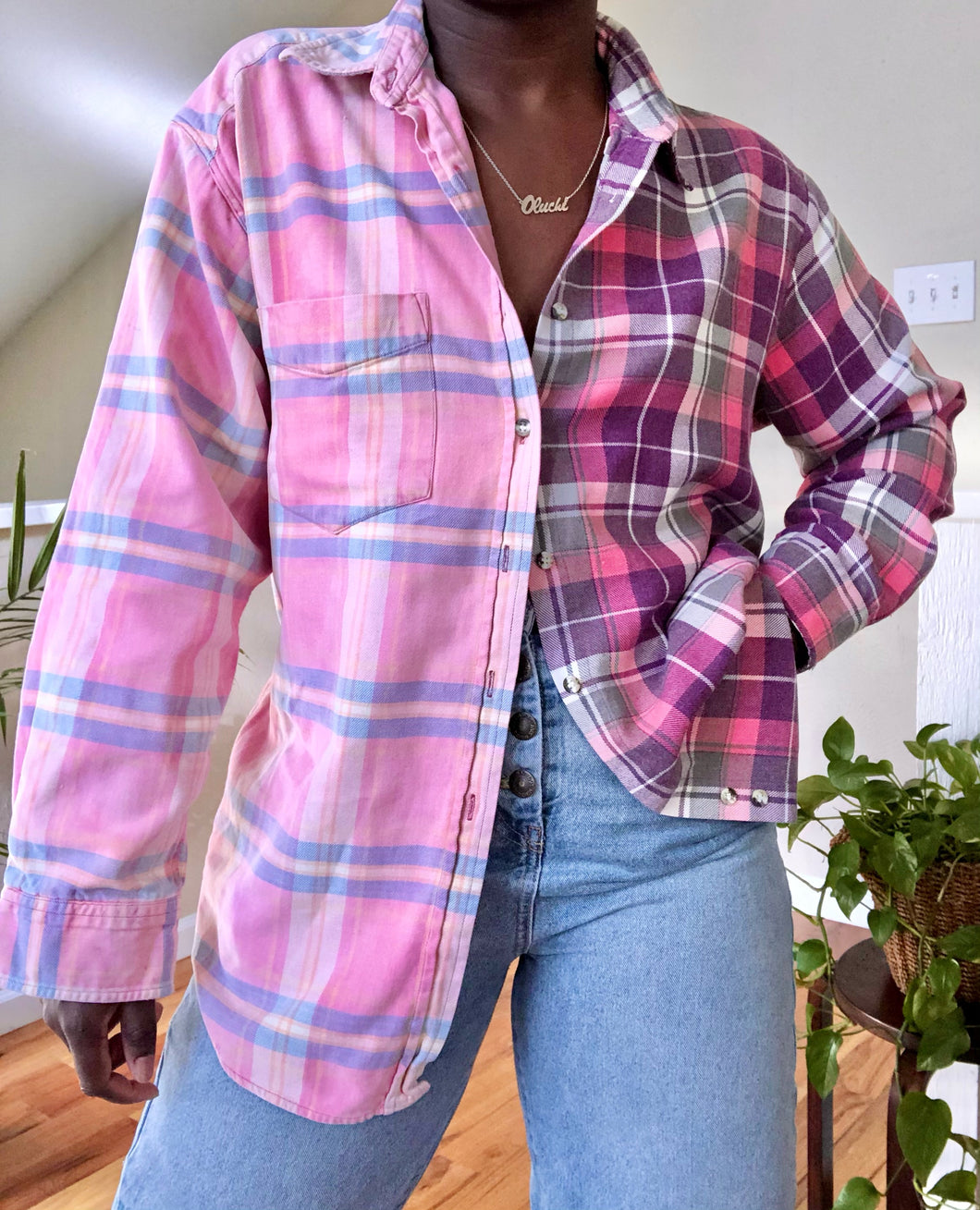 reworked vintage flannel