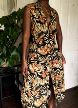 Load image into Gallery viewer, autumn leaves maxi dress
