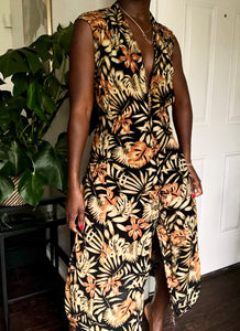 autumn leaves maxi dress