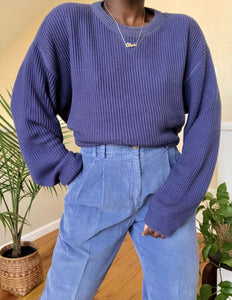 cerulean cropped knit sweater