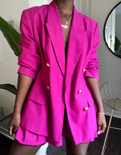 Load image into Gallery viewer, fuschia pleated skirt suit