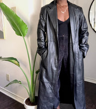 Load image into Gallery viewer, vintage full length leather coat