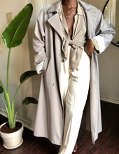 Load image into Gallery viewer, vintage dove gray raincoat