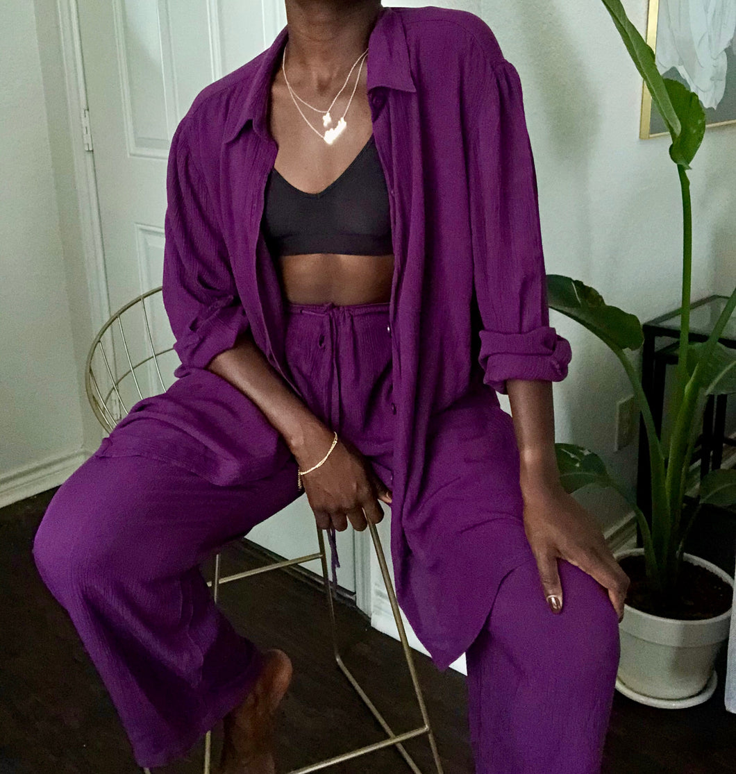 grape two-piece set