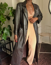 Load image into Gallery viewer, vintage 90's leather trench