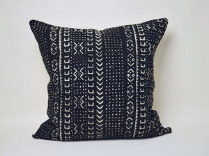 Black & White Mud Cloth Square Pillow