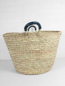 Marrakech Woven Storage Basket - Ink