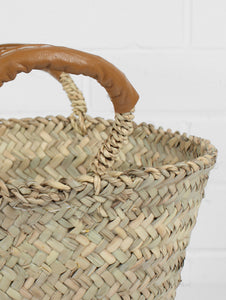 Marrakech Hand Woven Storage Basket - Mustard
