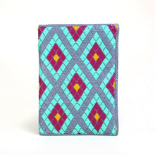 Load image into Gallery viewer, Double Diamond Hand-woven Wallet/Clutch - Aqua