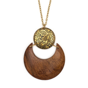 Sun & Earth Orb Necklace