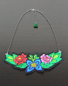 Mérida Floral Necklace  - Blue