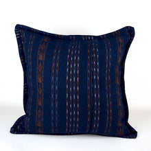 Load image into Gallery viewer, Indigo Huipil Woven Pillow