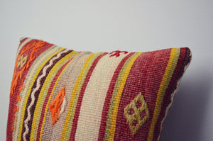 Vintage Kilim Square Pillow - Red