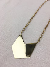 Load image into Gallery viewer, Shield Handmade Brass Necklace