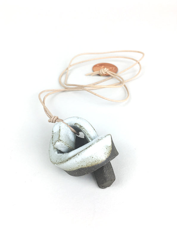 Mini Union Knot Ceramic Necklace - Two Tone