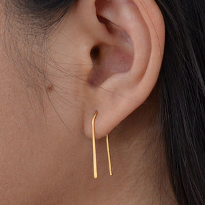 Golden Arc Earrings