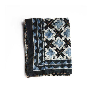 Haveli Block Print Indigo Throw