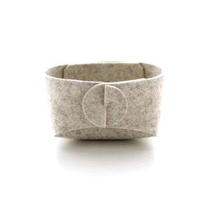 Mini Merino Wool Felt Basket - Gray Heather