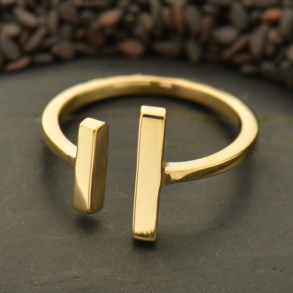 Bronze Parallel Lines Ring