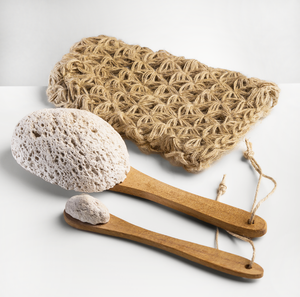 Volcanic Pumice Set with Linen Bag