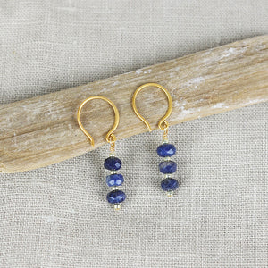 Sapphire and Gold Earrings