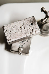 Hand-stamped Copper Covered Pumice Stone