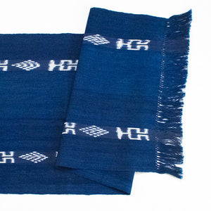 Indigo Ikat Table Runner