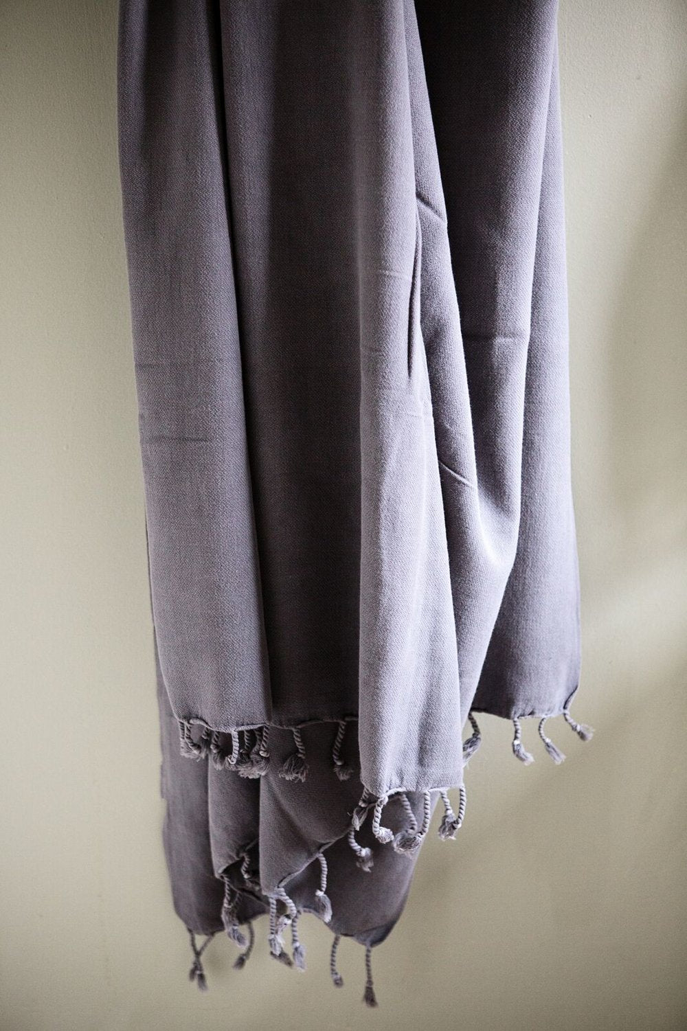 Stonewashed Turkish Towel - Shadow Gray