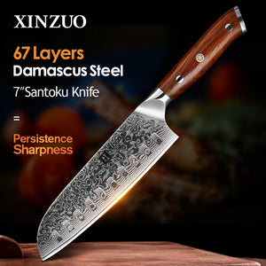 Xinzuo 7 Inch Santoku Kitchen Knife
