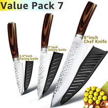 3.5 Inch Paring Knife / 5 Inch Utility Knife / 8 Inch Chef's Knife
