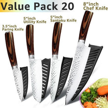 3.5 Inch Paring Knife / 5 Inch Utility Knife / 5 Inch Santoku Knife / 8 Inch Chef's Knife