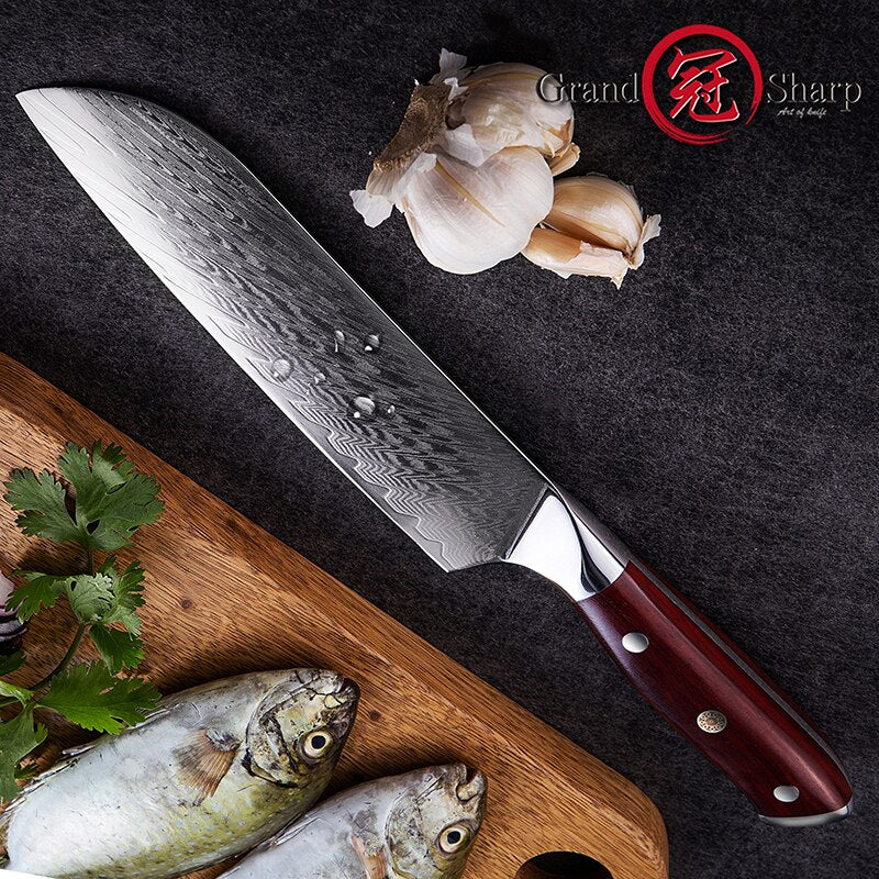 Grand Sharp 6.9 Inch Santoku Knife