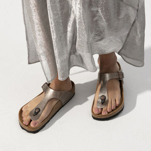 Birkenstock Unisex Gizeh Birko-Flor Regular Fit Sandals Graceful Taupe