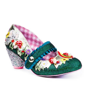 Irregular Choice Women's Pipsqueak 4587-1 Mary Jane Heel Shoes Green