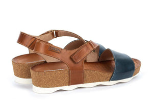 Pikolinos Women's Mahon 0833C1 Leather Wedge Sandals Sapphire