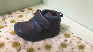 Start-Rite Childrens Toddlers Boys Leather Noah Ankle Boots Grey