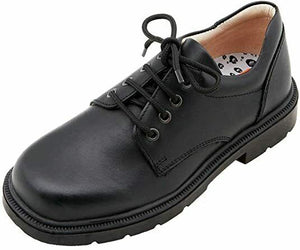 Petasil Childrens Boys Oscar Leather Lace Up School Shoes Black