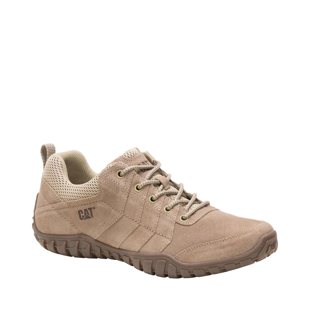 CAT Caterpillar Men's Instruct P724308 Casual Leather Trainers Beige